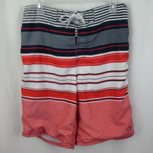 Op mens swim trunks Size S 28 30 Red white navy